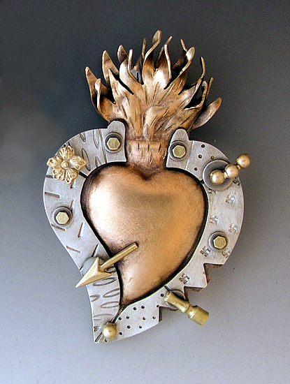 Milagro Heart - Metal Pin - by Thomas Mann