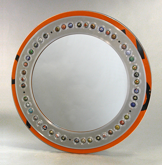 ReView Large - Recycled Metal Mirror - by Boris Bally