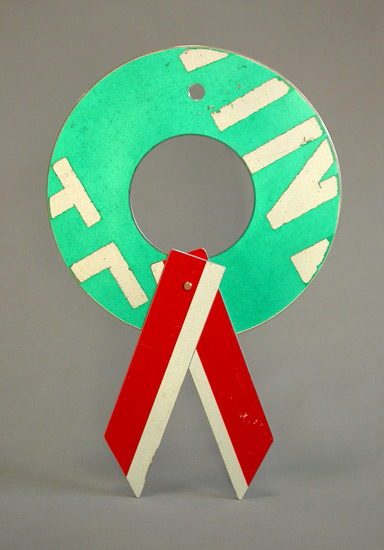 Small Signs of the Season - Metal Wreath - by Boris Bally