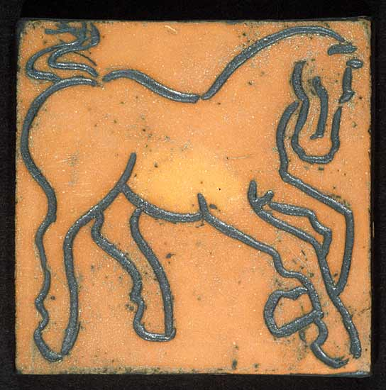 Prancing Horse, Earthenware - Ceramic Wall Art - by Jeri Hollister