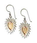 Silver & Bronze Earrings by Thomas Mann