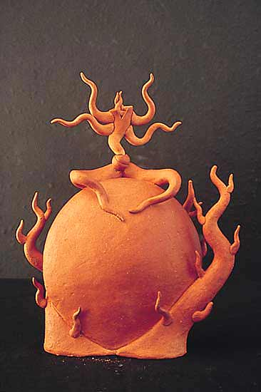 Seated Shiva - Ceramic Teapot - by Michael Torre
