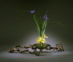 Bronze Ikebana by Carol Green