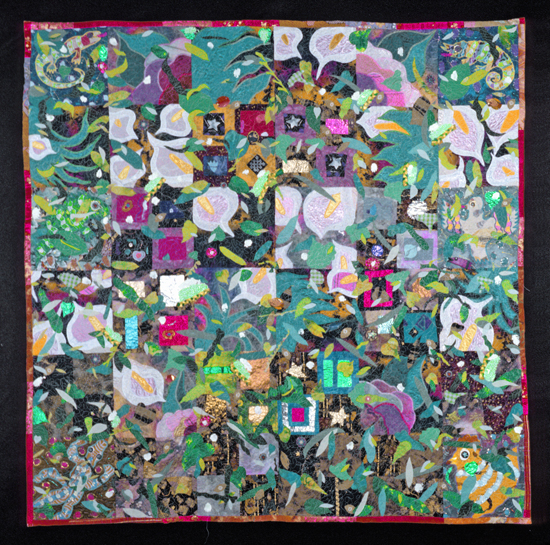 Willow Glen Garden - Art Quilt - by Therese May