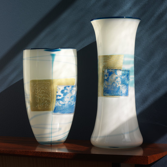 Wave Vases - Art Glass Vases - by Richard S. Jones