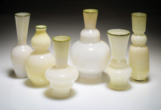 Ochre Paladin Vase - Art Glass Vase - by Richard S. Jones