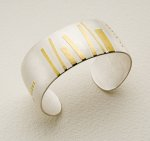 Silver & Gold Cuff by Lisa Ceccorulli