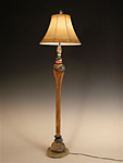 Mixed Media Floor Lamp by Jan Jacque