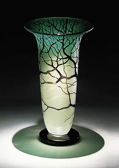 Tree Vase - Art Glass Vase - by Bernard Katz