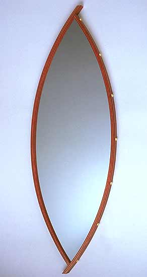 Curved Mirror - Wood Mirror - by David Kiernan