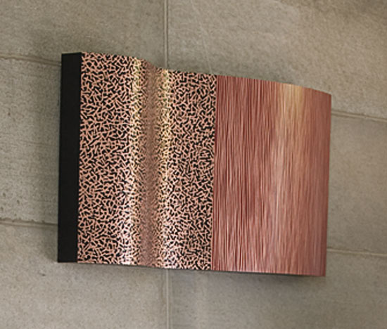 Patterns of Nature II - Copper wall sculpture - by Linda Leviton