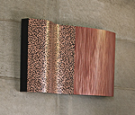 Copper wall sculpture by Linda Leviton