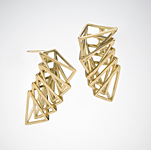 Gold or Silver Earrings by Patricia Madeja