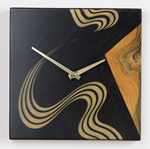 Painted Wood Clock by Daniel  Grant