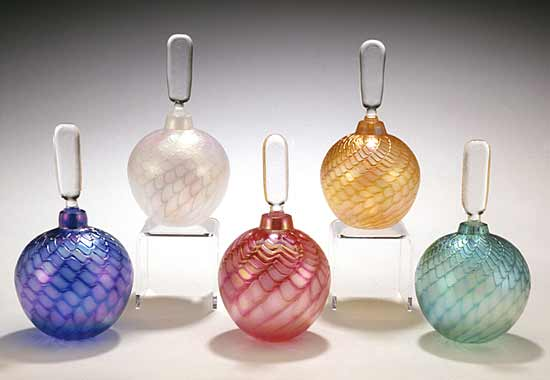 Optic Perfume Bottles - Art Glass Perfume Bottles - by Mark Rosenbaum