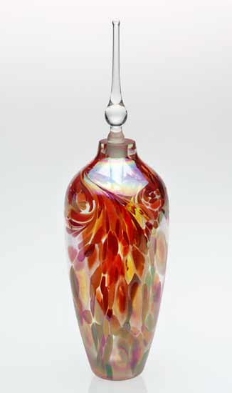 Li'l Flame Perfume Bottle - Art Glass Perfume Bottle - by Mark Rosenbaum