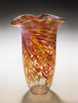 Art Glass Vase by Mark Rosenbaum