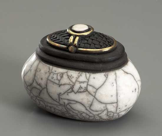 White Oval Jar - Ceramic Vessel - by Candone Wharton