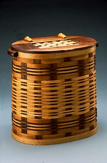 Small Hamper - Wooden Hamper - by Keith Raivo
