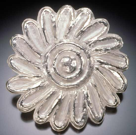 Wild Flower - Silver Brooch - by Eva Seid