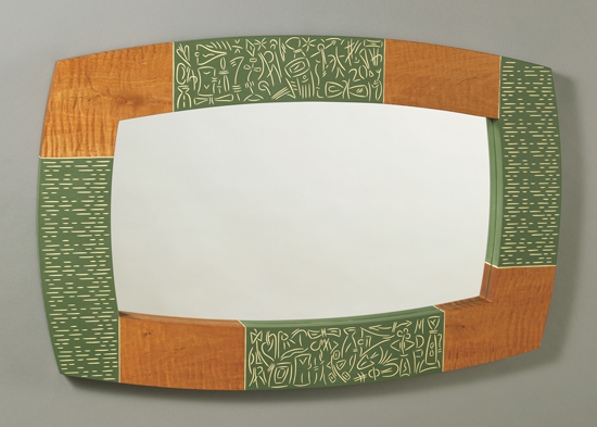 Maybe Today - Wood Mirror - by Mark Del Guidice