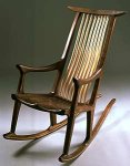 Wood Rocking Chair by Richard Laufer