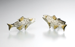 Silver & Gold Cuff Links by Louise Norrell