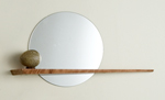 Wood Shelf & Mirror by John McDermott