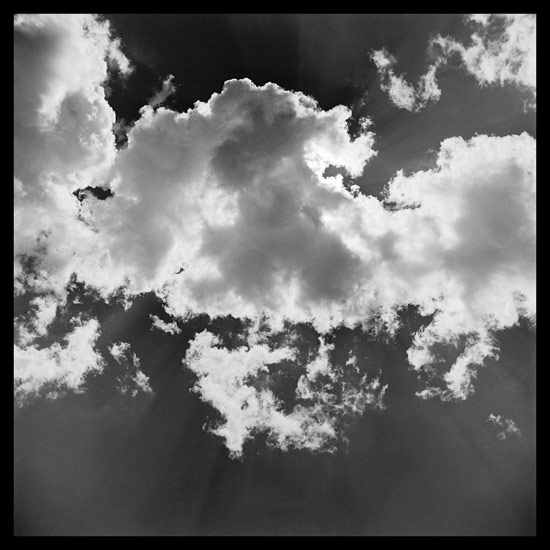 Clouds Wall Panel - Black & White Photograph - by Jenny Lynn