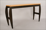 Wood Hall Table by Nicholas Simile