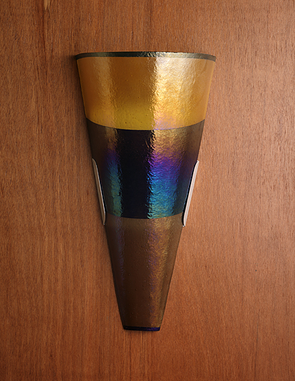 Band Sconce - Art Glass Sconce - by Kathleen Ash