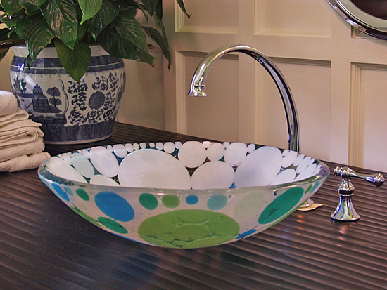 Pipe Dreams Sink - Art Glass Sink - by Kathleen Ash