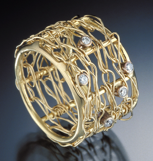 18K Ring - Diamond & Gold Ring - by Randi Chervitz