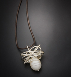 Silver & Pearl Necklace by Randi Chervitz