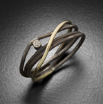 Gold, Silver, & Stone Ring by Randi Chervitz