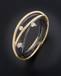 Gold, Silver & Stone Ring by Randi Chervitz