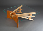 Wood & Glass Coffee Table by Seth Rolland