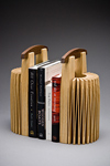 Wood book ends by Seth Rolland