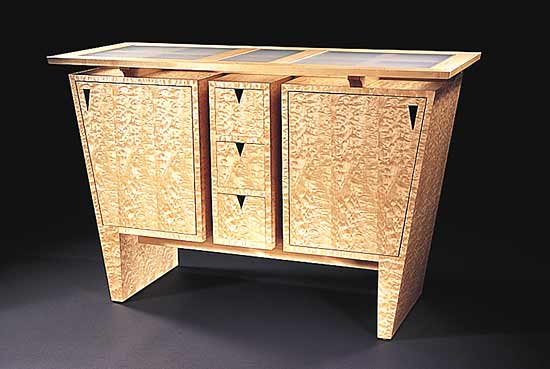 Custom Keystone Sideboard - Wood Cabinet - by Gregg Lipton
