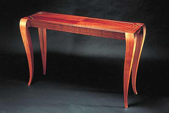 Gazelle Hall Table - Wood Hall Table - by Gregg Lipton