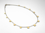 Sterling Silver & 18K Gold Necklace by Dona Look