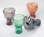 Art Glass Goblet by Mary Mullaney