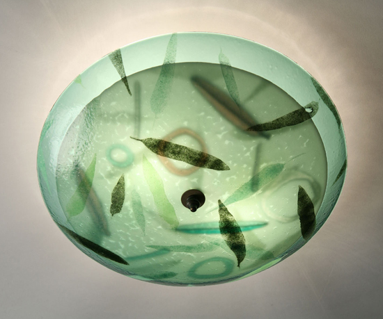 Leaf Duo - Glass Ceiling Light - by Joan Bazaz
