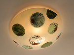 Glass Ceiling Light by Joan Bazaz
