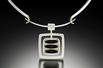 Silver & Glass Pendant by Amy Faust