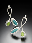 Silver & Glass Earrings by Amy Faust