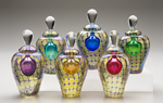 Art Glass Perfume Bottle by Thomas Philabaum