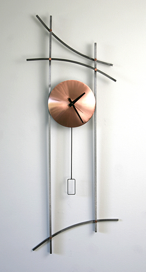 Asian Wall Clock - Metal Clock - by Julie Girardini and Ken Girardini