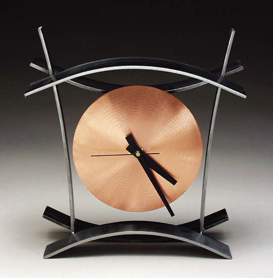 BAC Clock - Metal Clock - by Julie Girardini and Ken Girardini