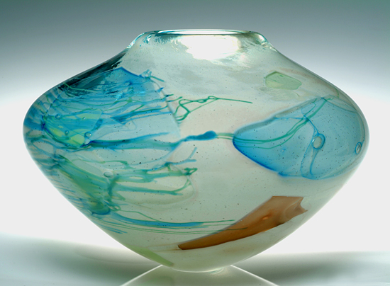 Summer Bowl - Art Glass Vessel - by Randi Solin